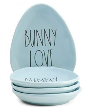 Rae Dunn By Magenta Easter Appetizer Plates Set Of 4 Bunny Love 0 300x360
