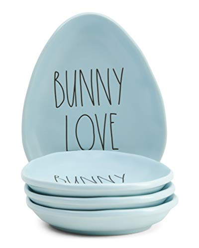 Rae Dunn By Magenta Easter Appetizer Plates Set Of 4 Bunny Love 0