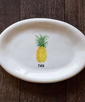 Rae Dunn By Magenta Pina Pineapple Small 8 Inch Plate 0 300x360