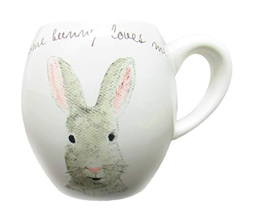 Rae Dunn By Magenta SOME BUNNY LOVES ME Easter Bunny Coffee Mug Pink Interior 0 1