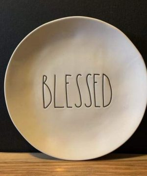 Rae DunnBLESSED Plate Set 4 Blessed 8 SET OF 4 Ceramic Dishwasher Safe 0 300x360
