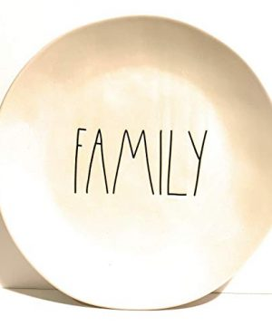 Rae DunnFAMILY 11 Inch Plate One Ceramic Dishwasher Safe 0 300x360
