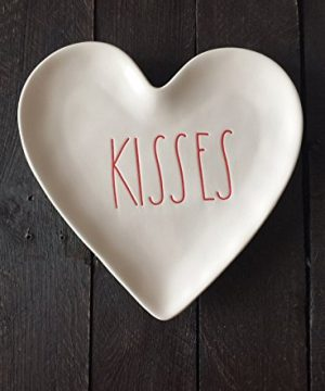 Rae DunnKISSES Valentine Heart Plate 0 300x360