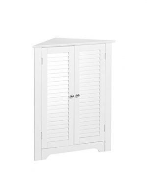 RiverRidge Ellsworth Collection 3 Shelf Corner Cabinet White 0 300x360