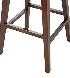 Rivet Malida Mid Century Modern Faux Leather Open Back Swivel Kitchen Bar Stool 41H Grey 0 3 300x333