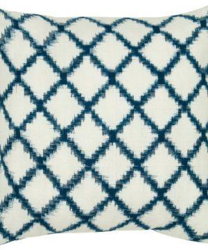 Rizzy Home T05535 Decorative Pillow 18X18 BlueWhiteNeutral 0 300x360