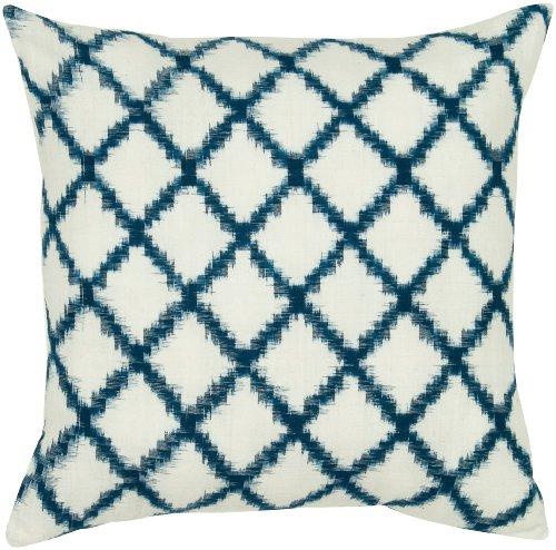 Rizzy Home T05535 Decorative Pillow 18X18 BlueWhiteNeutral 0
