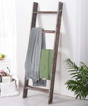 Rose Home Fashion RHF Decorative Blanket LadderRustic Blanket Ladder45ft Blanket LaddersRustic Wood LadderFarmhouse Blanket Ladder Storage Ladder Quilt Rack Assembly Required 45 FeetBrown 0 3 300x360