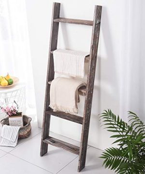 Rose Home Fashion RHF Decorative Blanket LadderRustic Blanket Ladder45ft Blanket LaddersRustic Wood LadderFarmhouse Blanket Ladder Storage Ladder Quilt Rack Assembly Required 45 FeetBrown 0 5 300x360