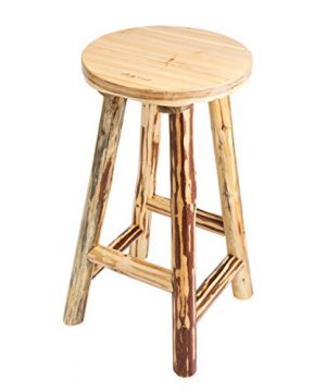 Rush Creek Creations Rustic Reloading Bar Stool 0 300x360