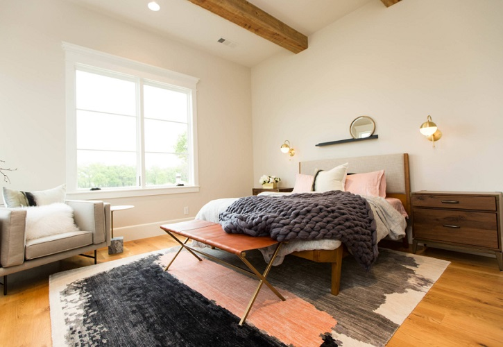 Rustic Contemporary Bedroom by Urbanology Designs