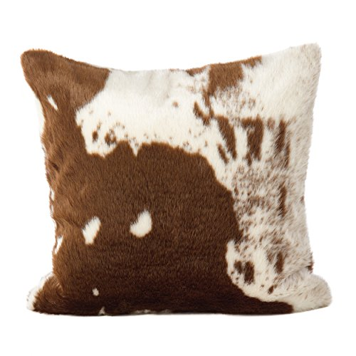 SARO LIFESTYLE 471BR18S Lait Design Urban Faux Cowhide Poly Filled Pillow 18 Brown 0 0