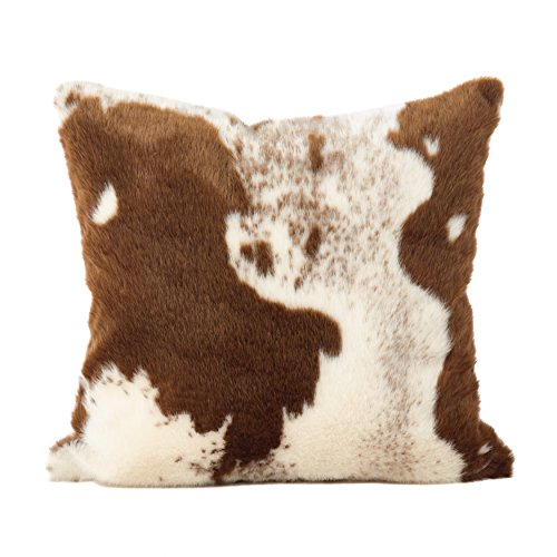 SARO LIFESTYLE 471BR18S Lait Design Urban Faux Cowhide Poly Filled Pillow 18 Brown 0