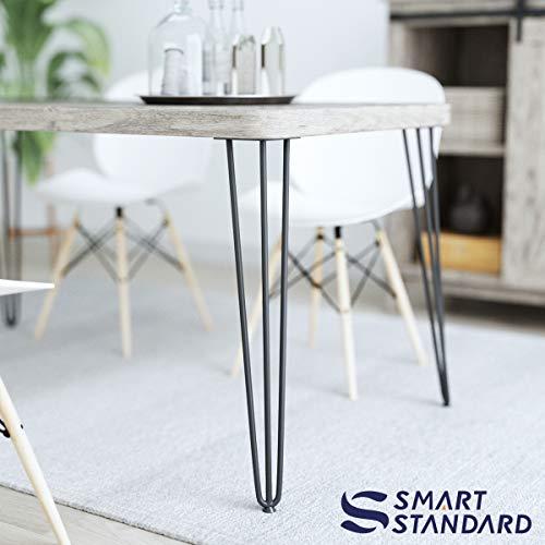 SMARTSTANDARD 28 Heavy Duty Hairpin Coffee Table Black 12 Thick Set Of Four Legs X 4 28 Inch 4PCS 0 2