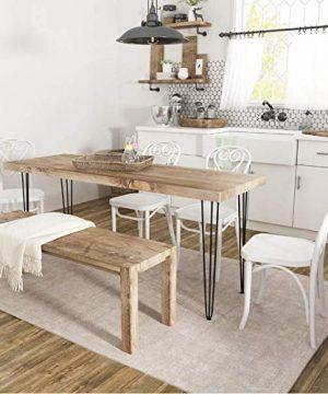SMARTSTANDARD 28 Heavy Duty Hairpin Coffee Table Black 12 Thick Set Of Four Legs X 4 28 Inch 4PCS 0 5 300x360