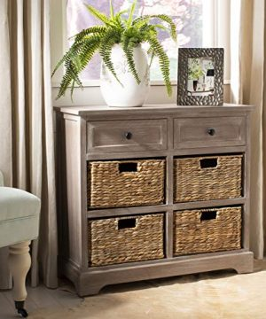 Safavieh American Homes Collection Herman Whitewash Wicker Basket Storage Unit 0 300x360