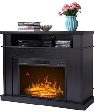 Sandinrayli 41 Large 1500W Room Adjustable Electric Fireplace TV Stand W Remote Control 0 300x360