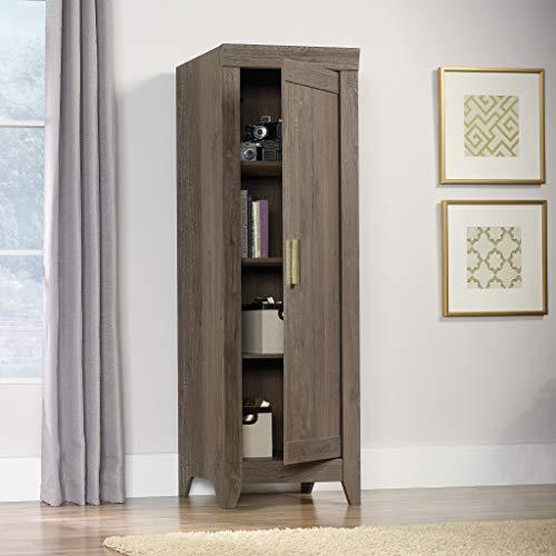 Sauder Adept Storage Narrow Storage Cabinet Fossil Oak Finish 0 1