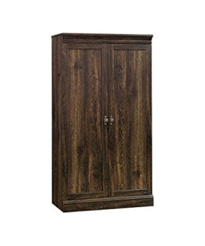 Sauder Barrister Lane Storage Cabinet Iron Oak Finish 0 300x360
