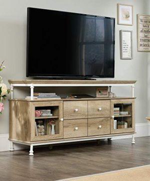 Sauder Canal Street Credenza For TVs Up To 60 Coastal Oak Finish 0 0 300x360