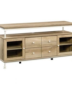 Sauder Canal Street Credenza For TVs Up To 60 Coastal Oak Finish 0 300x360