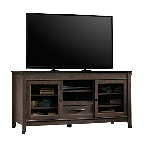 Sauder Carson Forge Entertainment Credenza For TVs Up To 60 Coffee Oak Finish 0 0