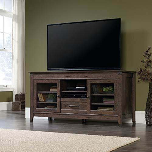 Sauder Carson Forge Entertainment Credenza For TVs Up To 60 Coffee Oak Finish 0 1