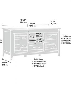 Sauder Carson Forge Entertainment Credenza For TVs Up To 60 Coffee Oak Finish 0 2 300x360