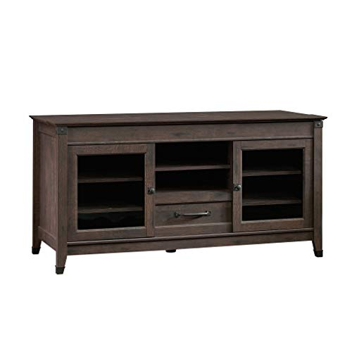 Sauder Carson Forge Entertainment Credenza For TVs Up To 60 Coffee Oak Finish 0
