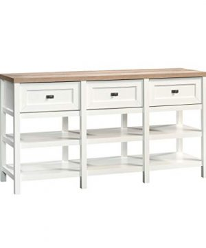 Sauder Cottage Road Credenza For TVs Up To 60 Soft White Finish 0 300x360