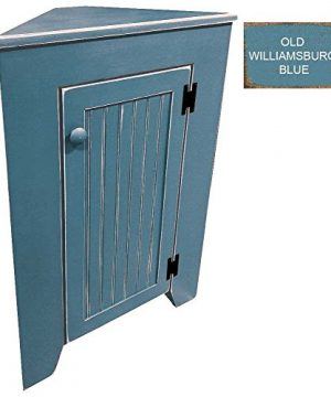 Sawdust City Corner Cabinet Old Williamsburg Blue 0 300x360