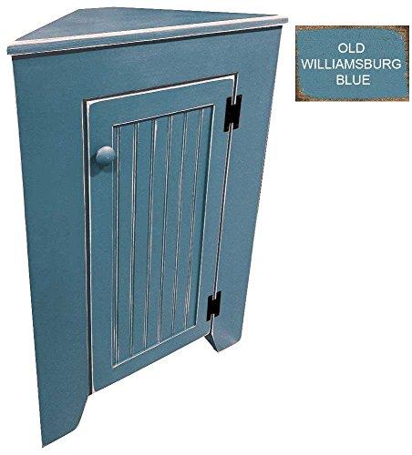 Sawdust City Corner Cabinet Old Williamsburg Blue 0