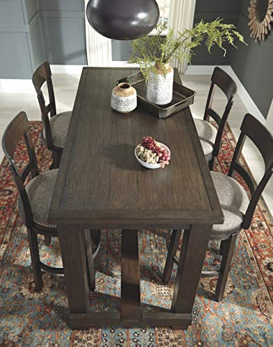 Signature Design By Ashley Drewing Bar Stools Bar Height Open Back Set Of 2 Brown 0 1