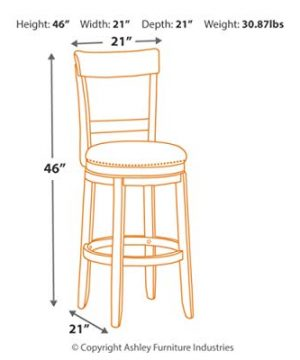 Signature Design By Ashley Drewing Bar Stools Bar Height Open Back Set Of 2 Brown 0 2 300x360
