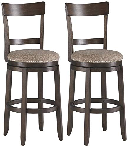 Signature Design By Ashley Drewing Bar Stools Bar Height Open Back Set Of 2 Brown 0