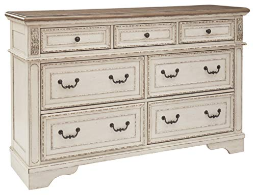 Signature Design By Ashley B743 31 Realyn Dresser Chipped White 0