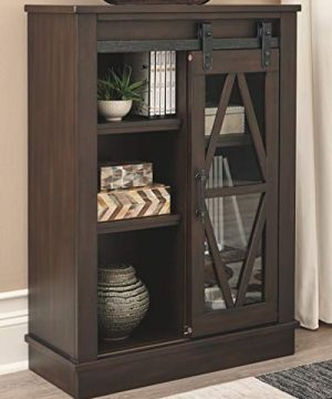 Signature Design By Ashley Bronfield Accent Cabinet Sliding Door Brown 0 0 300x360