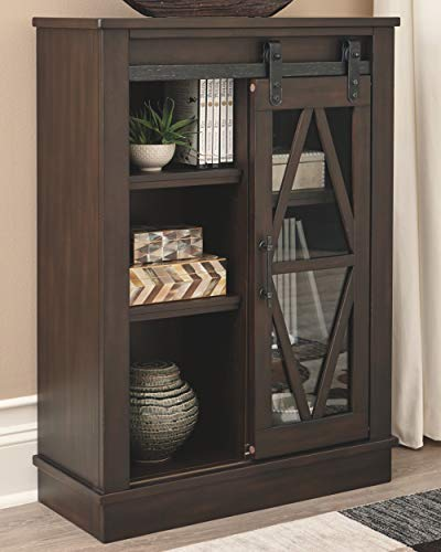 Signature Design By Ashley Bronfield Accent Cabinet Sliding Door Brown 0 0