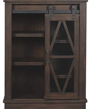 Signature Design By Ashley Bronfield Accent Cabinet Sliding Door Brown 0 1 300x360