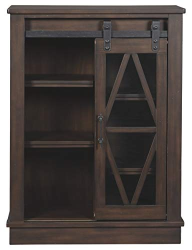 Signature Design By Ashley Bronfield Accent Cabinet Sliding Door Brown 0 1