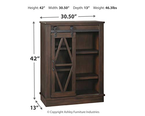 Signature Design By Ashley Bronfield Accent Cabinet Sliding Door Brown 0 2