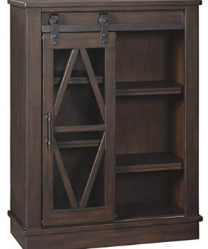 Signature Design By Ashley Bronfield Accent Cabinet Sliding Door Brown 0 300x360