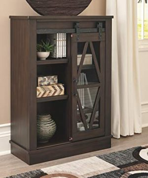 Signature Design By Ashley Bronfield Accent Cabinet Sliding Door Brown 0 5 300x360