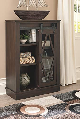 Signature Design By Ashley Bronfield Accent Cabinet Sliding Door Brown 0 5