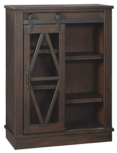 Signature Design By Ashley Bronfield Accent Cabinet Sliding Door Brown 0