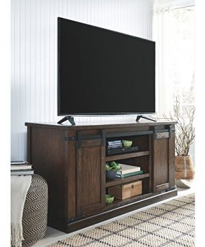 Signature Design By Ashley Budmore Large TV Stand Rustic Brown 0 0 300x360