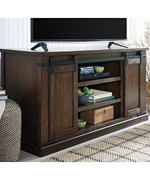 Signature Design By Ashley Budmore Large TV Stand Rustic Brown 0 1 300x360