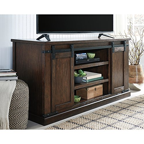 Signature Design By Ashley Budmore Large TV Stand Rustic Brown 0 1