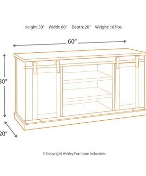Signature Design By Ashley Budmore Large TV Stand Rustic Brown 0 2 300x360