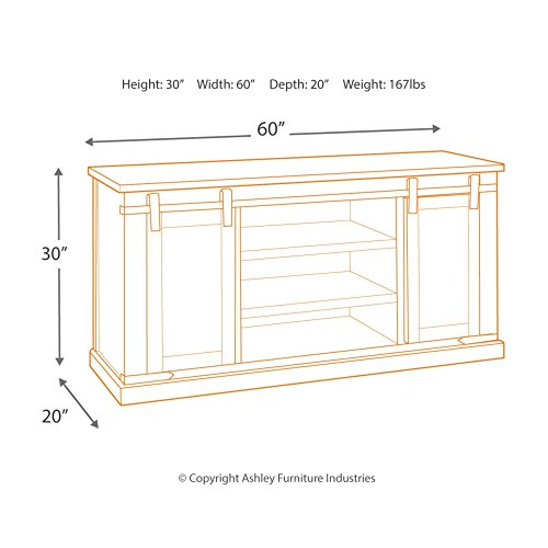 Signature Design By Ashley Budmore Large TV Stand Rustic Brown 0 2